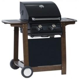 """Barbecue à gaz en acier avec chariot """"Optimum 2 Feux"""""""